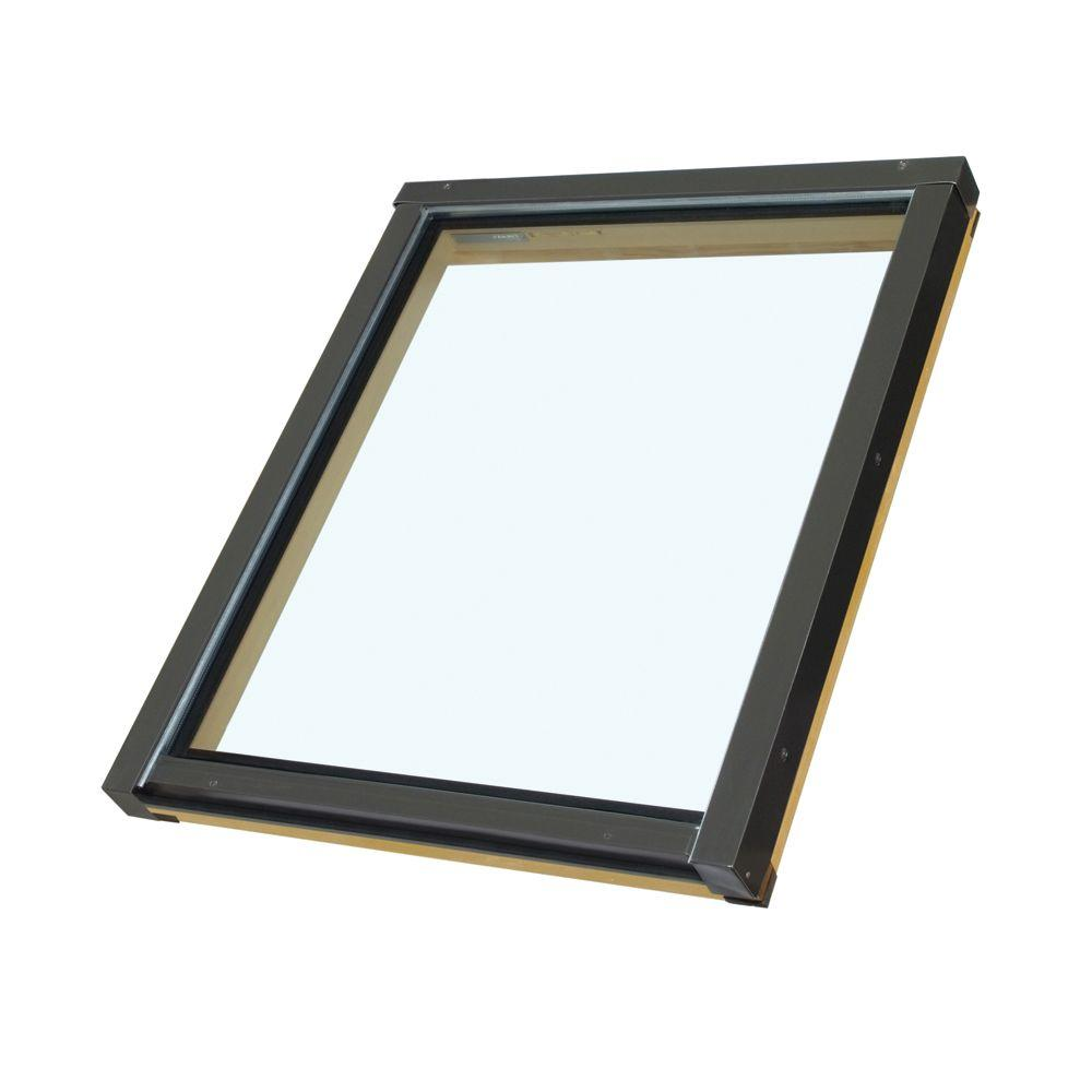 Fakro FX806T - 46-1/2 in x 45-1/2 in. Fixed Deck Mount Skylight with Tempered LowE Glass
