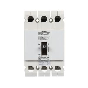 Siemens 25 Amp Triple Pole Type CQD Cable In Cable Out DIN Rail Circuit Breaker by Siemens