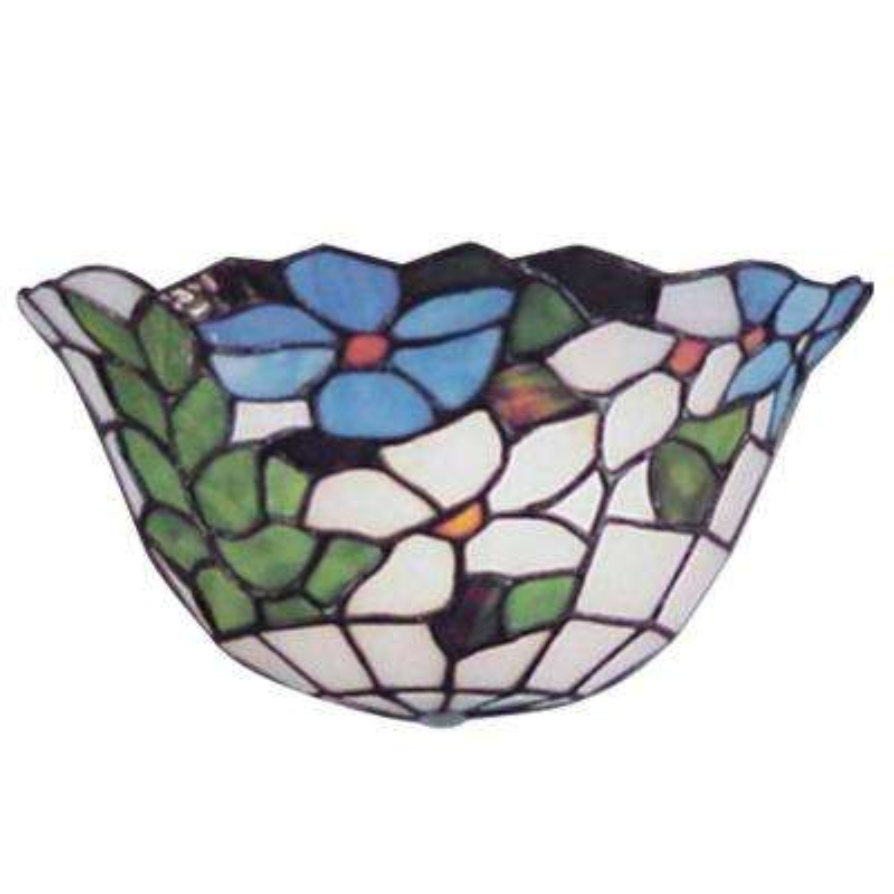 Flower Basket 1-Light White Sconce