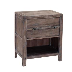 Aurora 1-Drawer Weathered Gray Nightstand