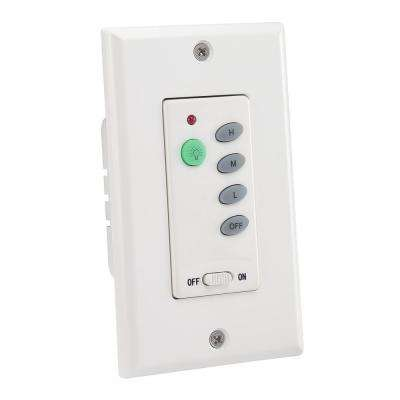 Ceiling Fan and Light White Wall Switch