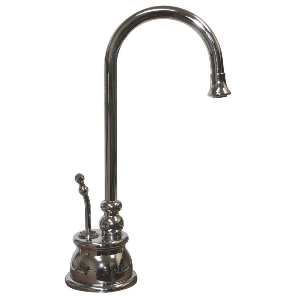 Whitehaus Collection Forever Hot 1-Handle Instant Hot Water Dispenser Faucet in Polished Chrome