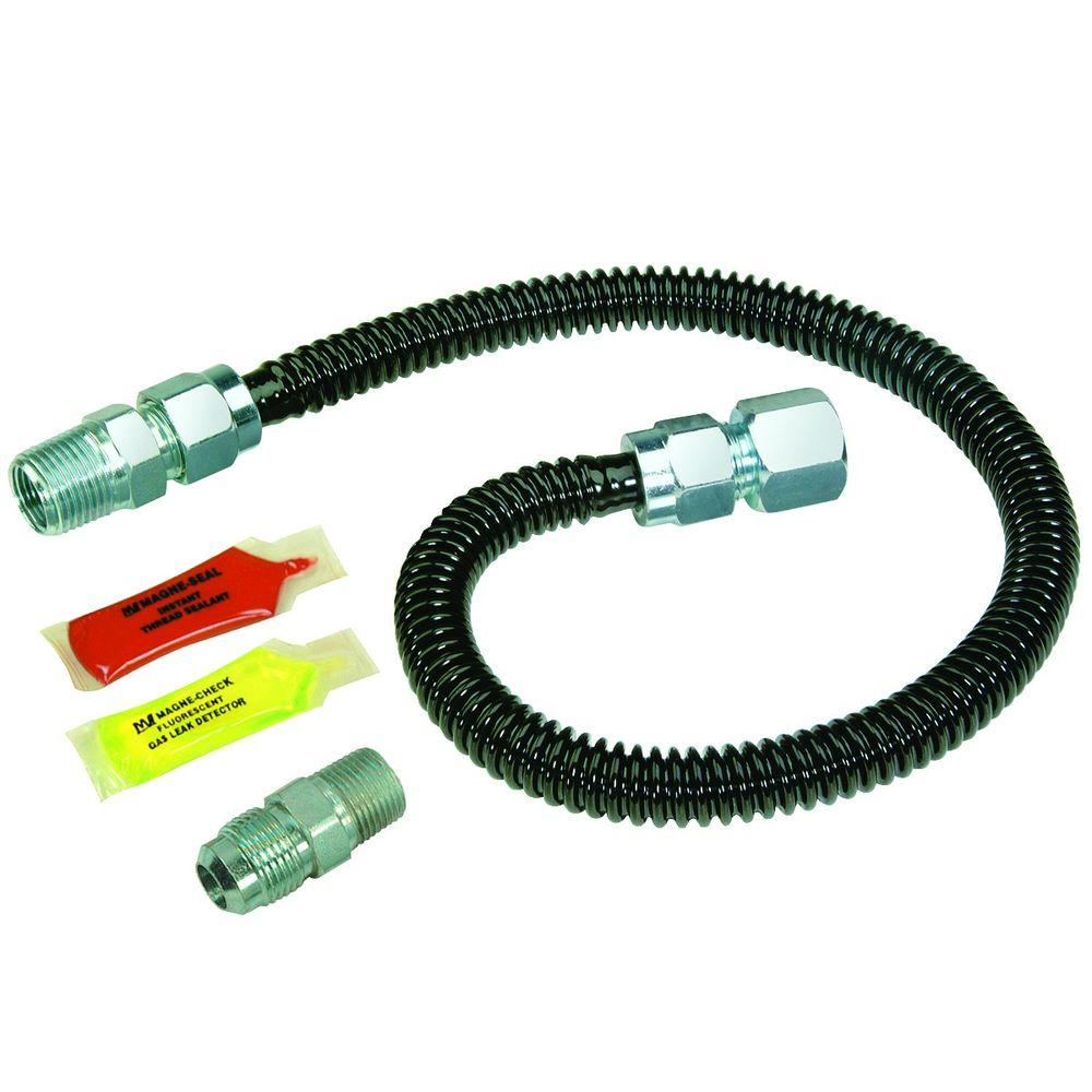 brasscraft black procoat gas installation kit for gas log