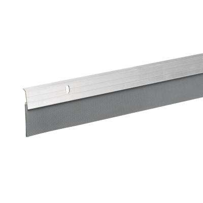 2 in. x 36 in. Silver Premium and Reinforced Rubber Door Sweep