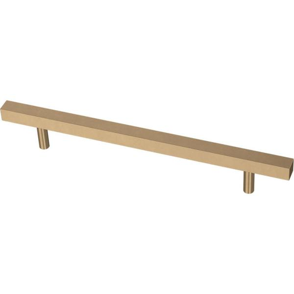 Square Bar 6-5/16 in. (160 mm) Champagne Bronze Cabinet Pull (12-Pack)