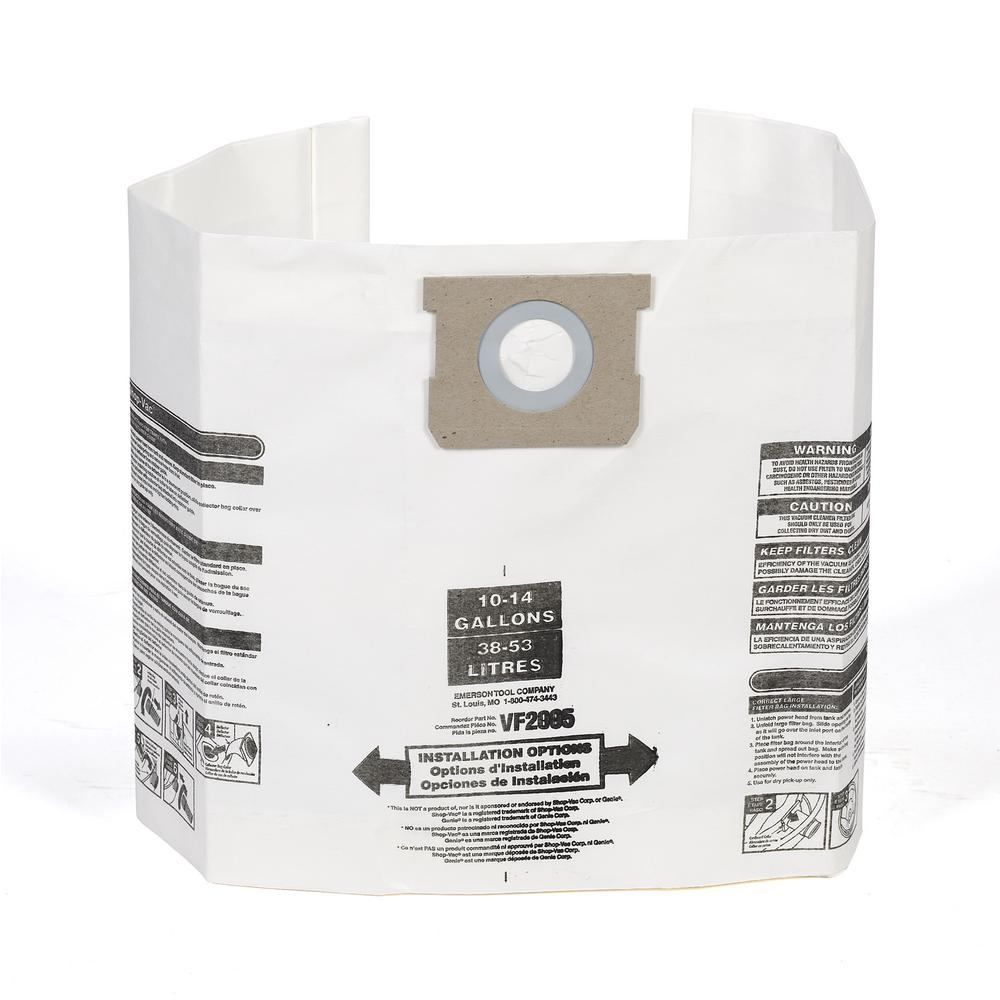 Multi-Fit Dust Bag Filter for 10 Gal. to 14 Gal. Genie and Shop-Vac Wet Dry Vacs (36-Pack)