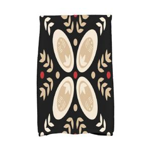 Click here to buy  16 inch x 25 inch Black Tradition Holiday Geometric Print Kitchen Towel.