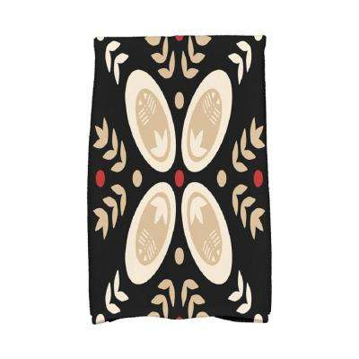 16 in. x 25 in. Black Tradition Holiday Geometric Print Kitchen Towel