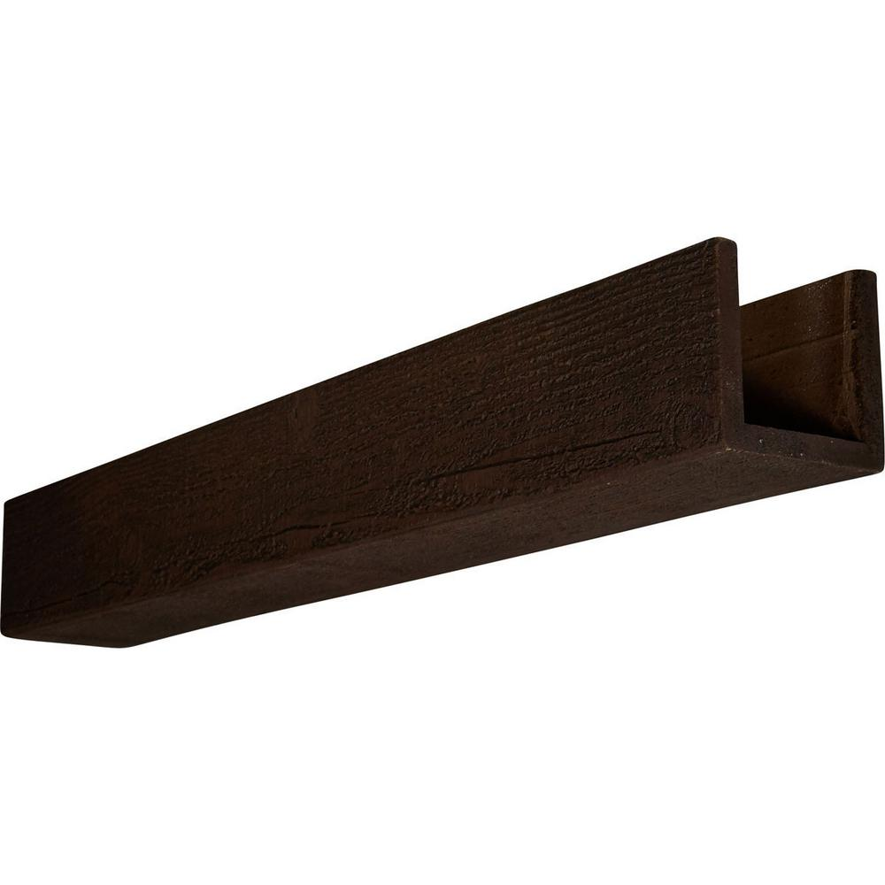 8 in. x 6 in. x 24 ft. 3-Sided (U-Beam) Rough