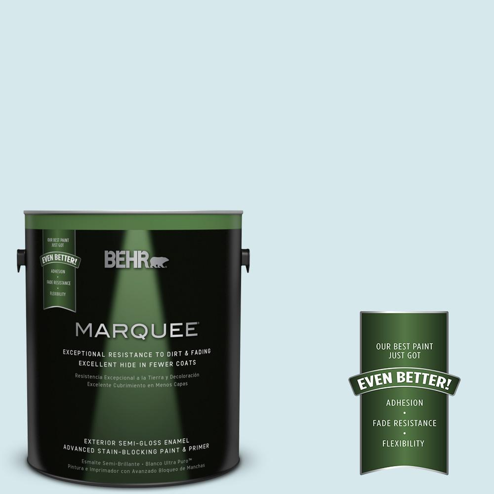 BEHR MARQUEE 1-gal. #S490-1 Permafrost Semi-Gloss Enamel Exterior Paint