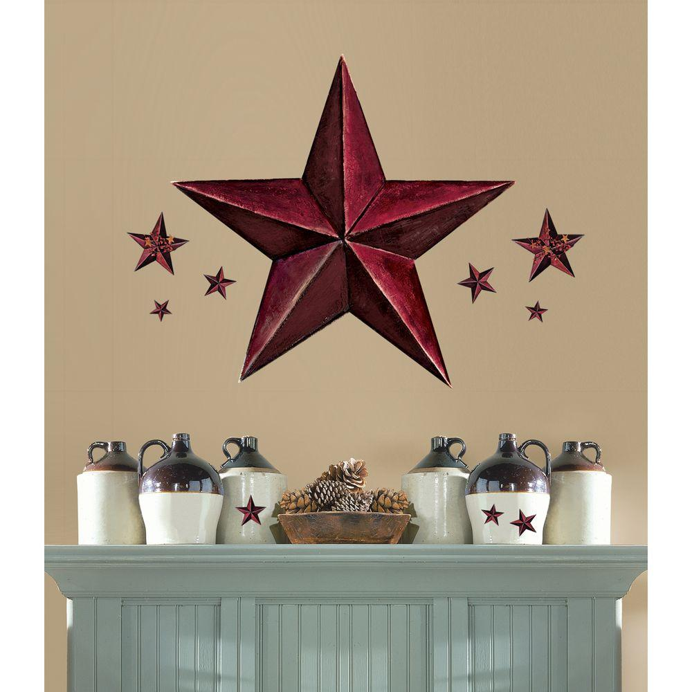 Barn Star 18 Piece Peel And Stick Giant