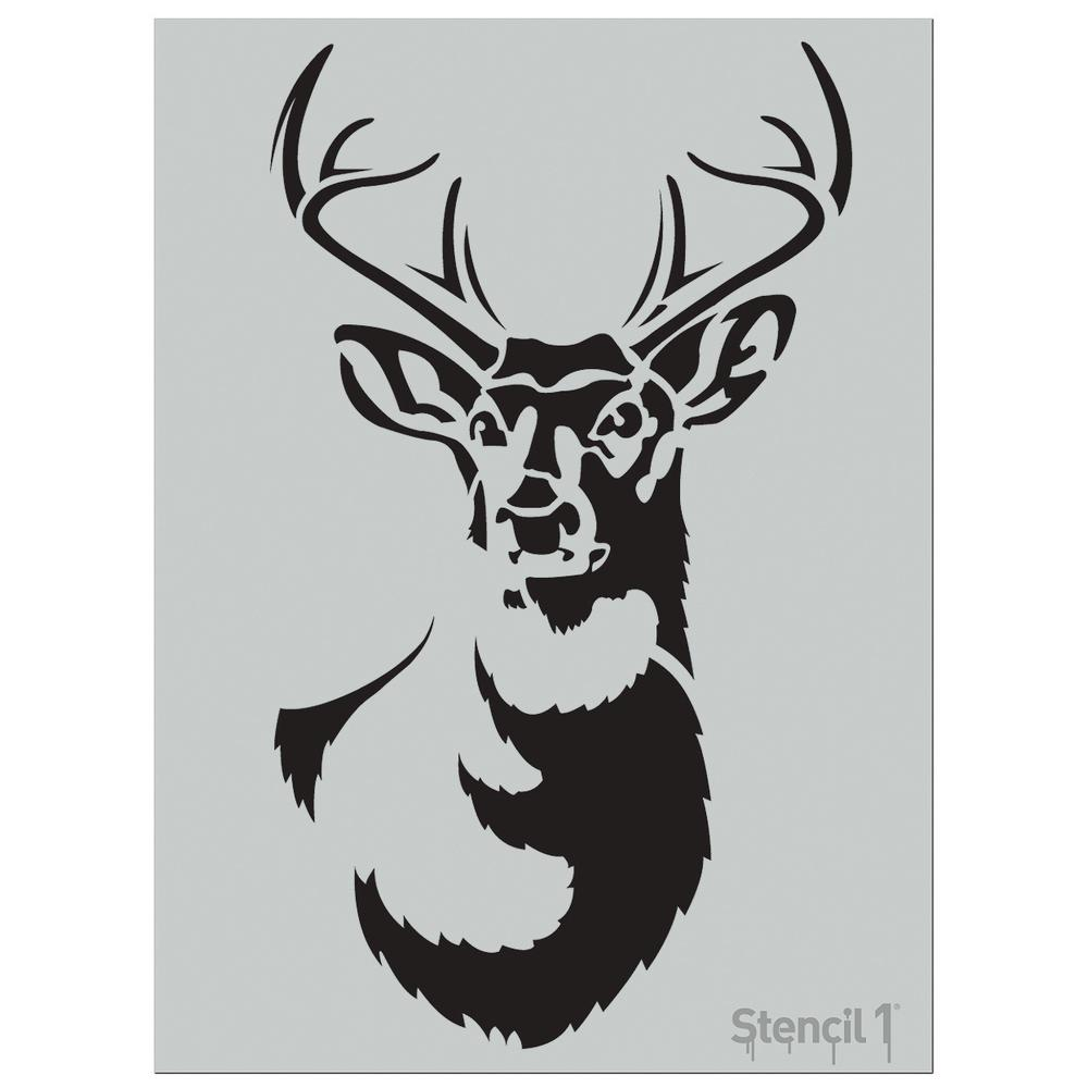image regarding Deer Stencil Printable named Stencil1 Higher Antlered Deer Stencil
