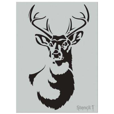 Large Antlered Deer Stencil