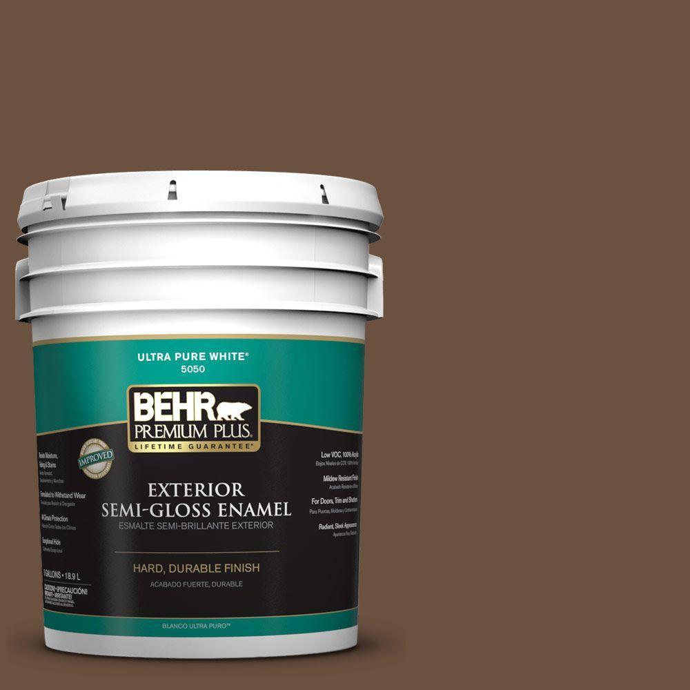 5-gal. #S-H-700 Burley Wood Semi-Gloss Enamel Exterior Paint