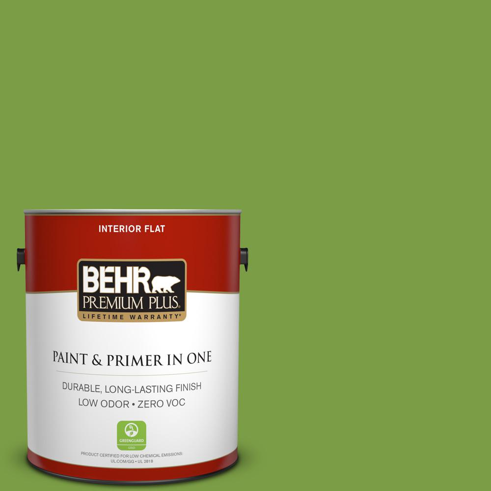 1-gal. #420B-7 Pepper Grass Zero VOC Flat Interior Paint
