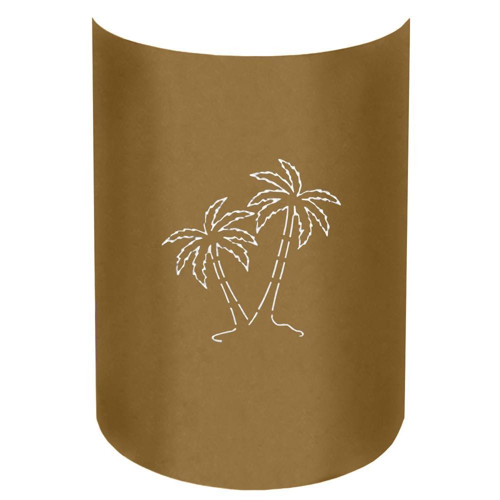 Filament design aspen 1 light outdoor caramel brown palm tree wall filament design aspen 1 light outdoor caramel brown palm tree wall sconce pt cb 032 the home depot amipublicfo Image collections