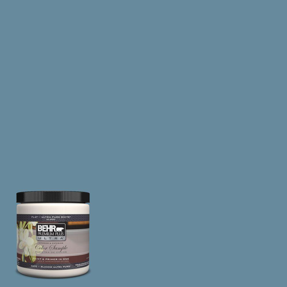 BEHR Premium Plus Ultra 8 oz. #550F-5 Winter Lake Interior/Exterior Paint Sample