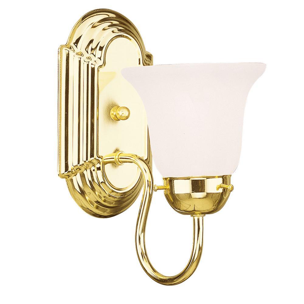 Riviera 1 Light Polished Brass Bath Vanity