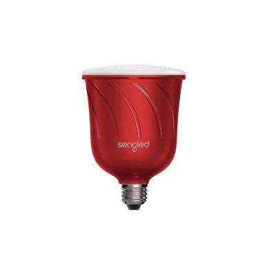 Pulse Dimmable LED Light with Wireless Bluetooth Satellite Speaker Powered by JBL - Red