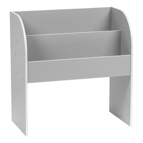 Kid's Gray Wooden Bookshelf