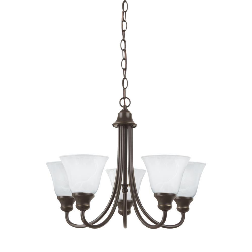 Windgate 5-Light Heirloom Bronze Chandelier