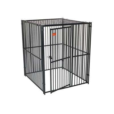 Lucky Dog 6 ft. H x 5 ft. W x 5 ft. L European Style Kennel with Predator Top