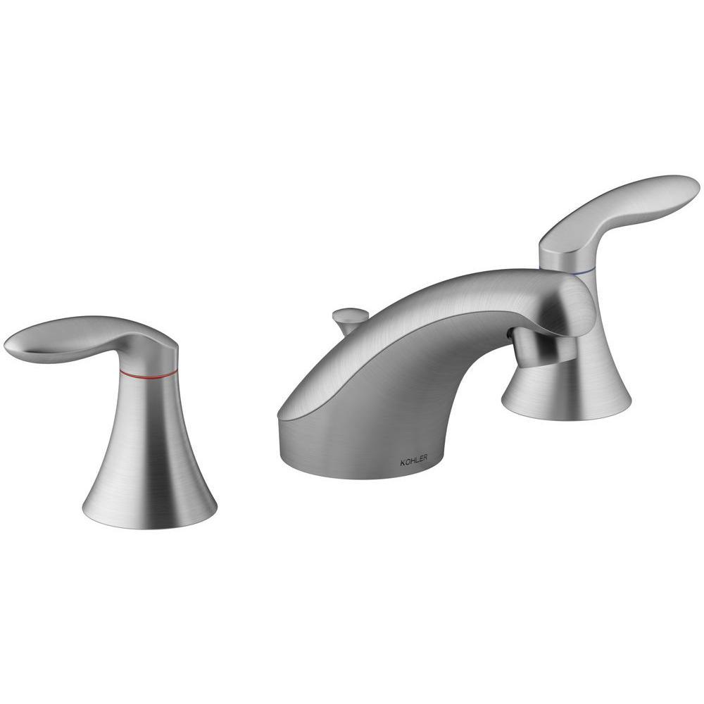 Brushed Chrome - Widespread Bathroom Sink Faucets - Bathroom Sink ...