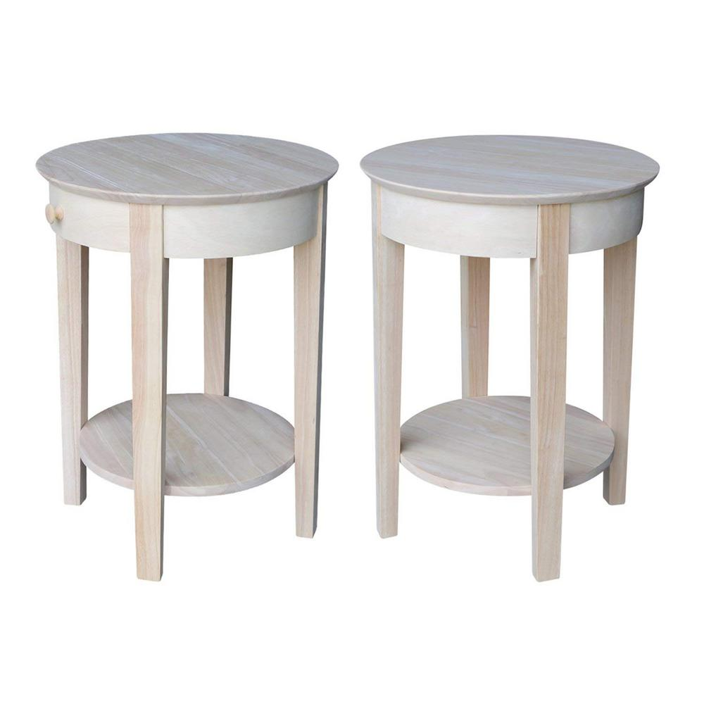 International Concepts Unfinished Storage End Table Ot 2128 The Home Depot