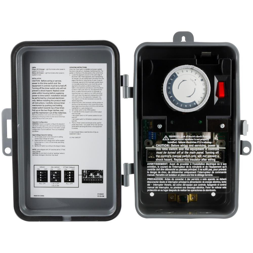 Ge 24 Hour Outdoor Mechanical Box Timer On Off Dpdt