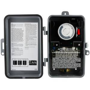 GE 24-Hour Outdoor Mechanical Box Timer, On/Off, DPDT by GE