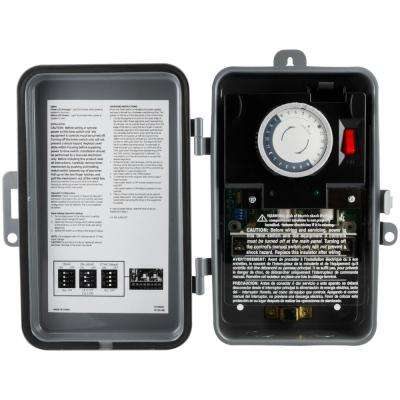 24-Hour Outdoor Mechanical Box Timer, On/Off, DPDT
