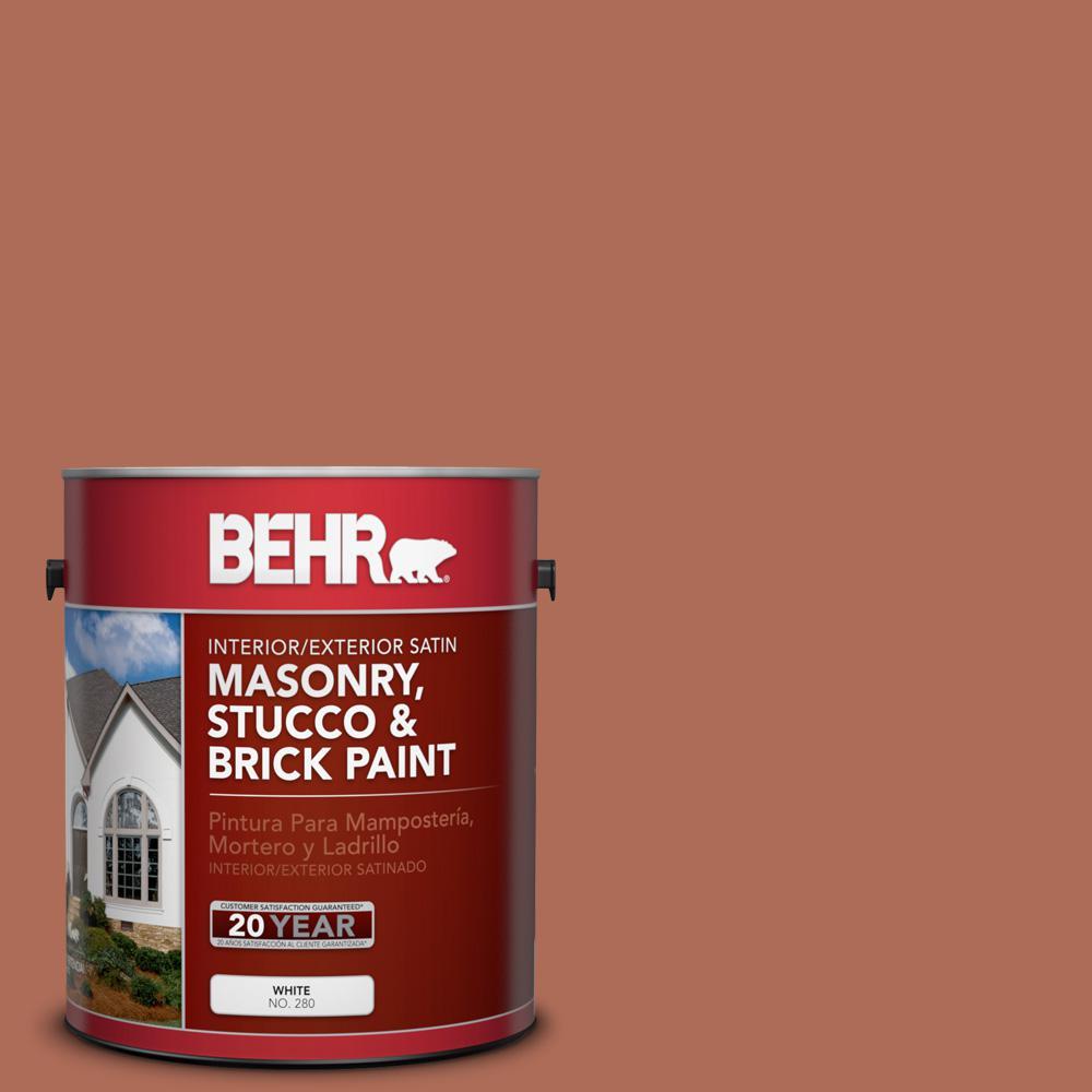 1 gal. #BXC-39 Sunset Orange Satin Interior/Exterior Masonry, Stucco and Brick Paint