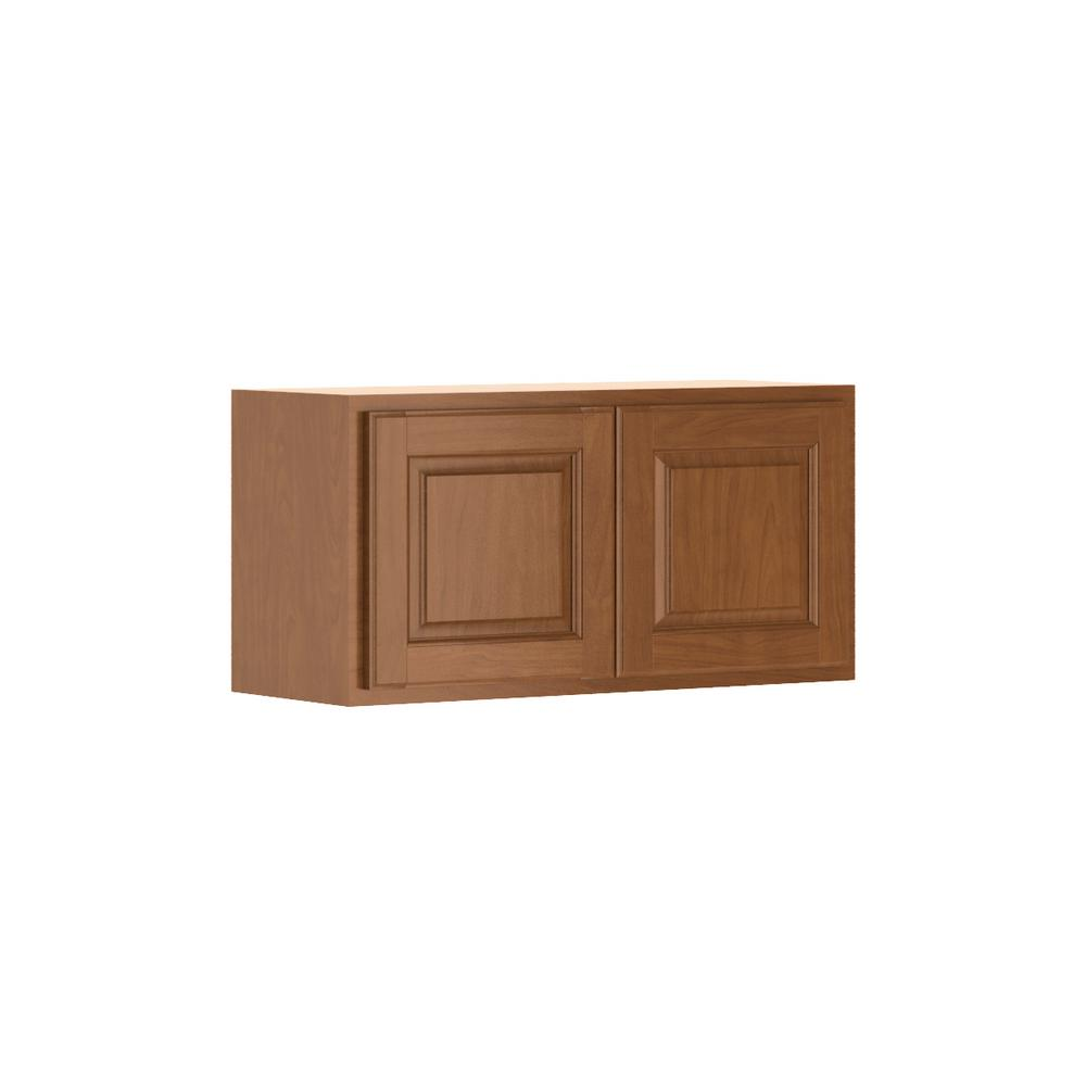 Madison Base Cabinets In Cognac: Hampton Bay Madison Assembled 30x15x12 In. Wall Bridge