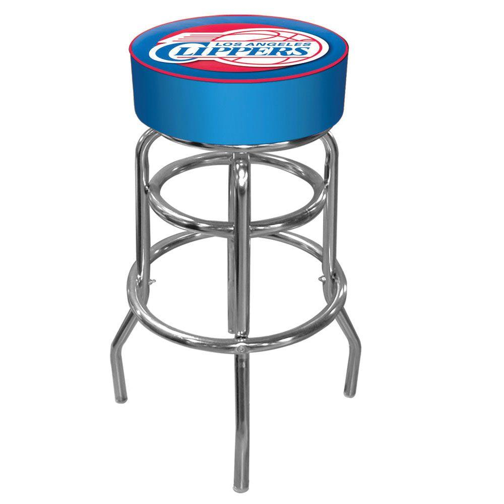 Los Angeles Clippers NBA 31 in. Chrome Padded Swivel Bar Stool