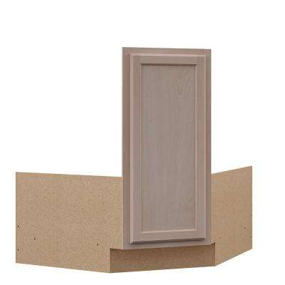 Hampton Ready to Assemble 36x34.5x24 in. Corner Sink Base Kitchen Cabinet in Unfinished Beech