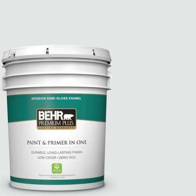 5 gal. #PPU26-13 Silent White Semi-Gloss Enamel Zero VOC Interior Paint and Primer in One