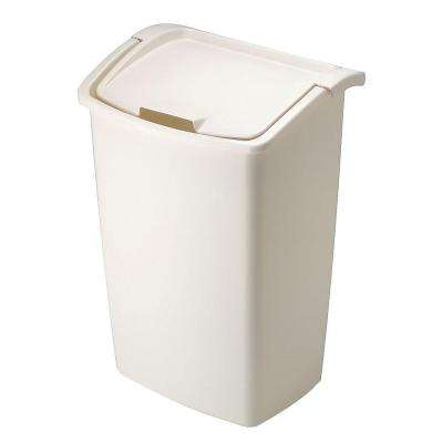 11.25 Gal. Bisque Dual Action Trash Can