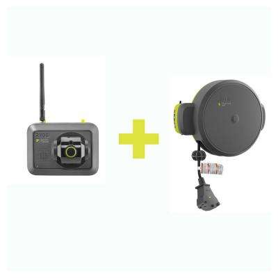 Garage Retractable Cord Reel Accessory with Bluetooth Speaker Accessory