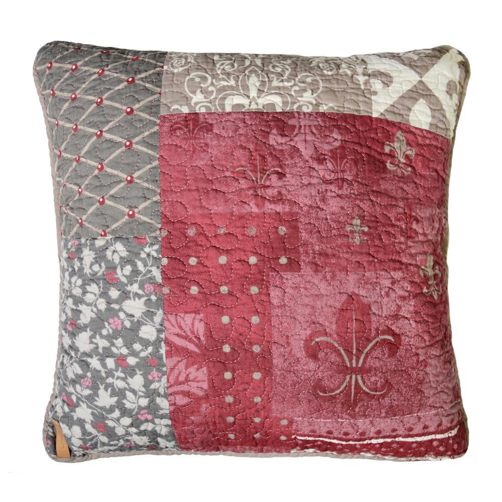 Fleur De Lis Square Decorative Pillow