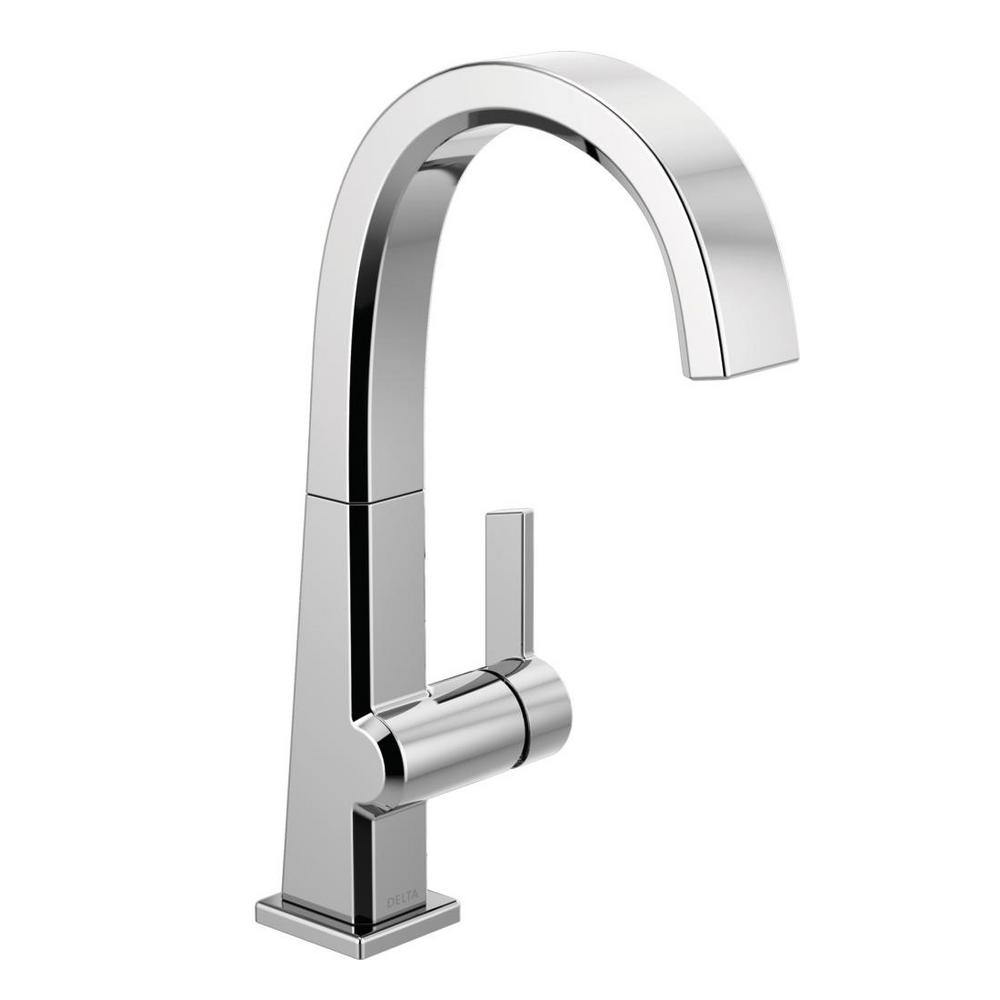 Pivotal Single-Handle Bar Faucet in Chrome