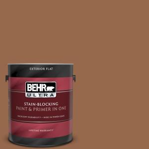 Behr Ultra 1 Gal S230 7 Toasted Bagel Flat Exterior Paint And Primer In One 485301 The Home Depot
