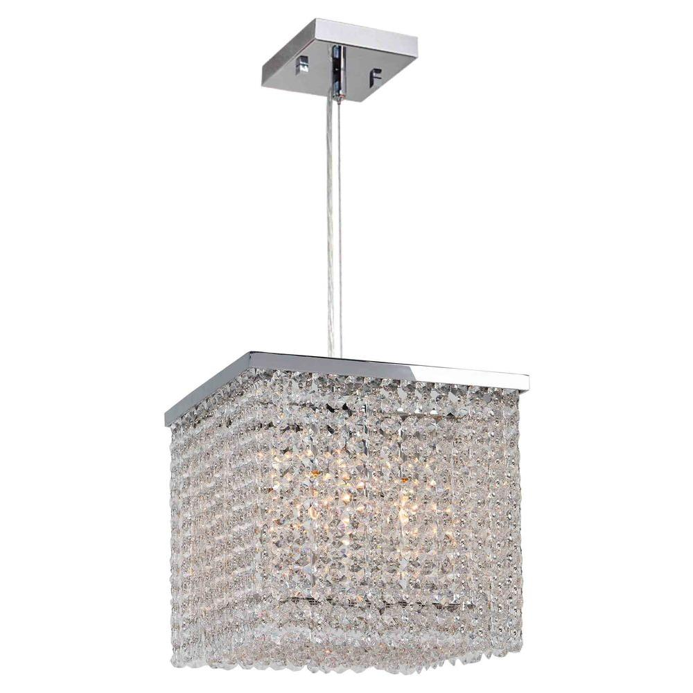 Worldwide Lighting Prism Collection 4-Light Chrome Chandelier