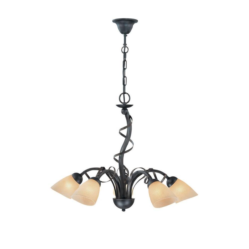 Illumine Designer Collection 5-Light Bronze Chandelier