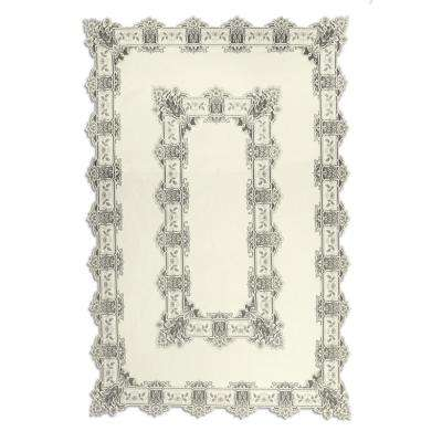 Heirloom Rectangle ECRU Polyester Tablecloth