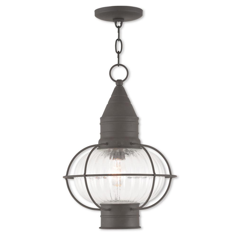 Newburyport Bronze 1-Light Outdoor Hanging Lantern