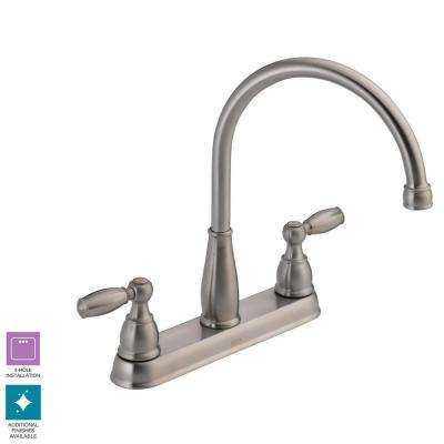 Foundations 2-Handle Standard Kitchen Faucet in Stainless