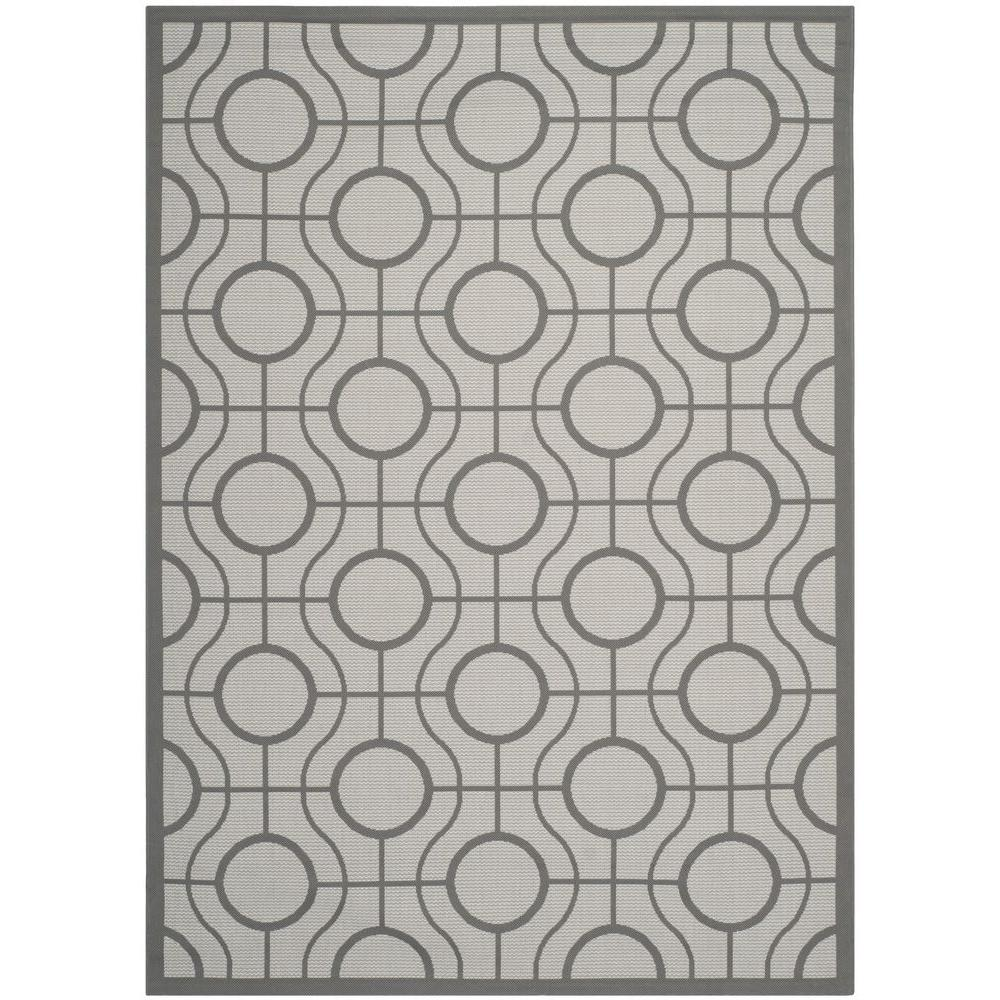 Safavieh Courtyard Light Gray Anthracite 5 Ft X 8 Ft Indoor Outdoor Area Rug Cy6115 78 5 The Home Depot