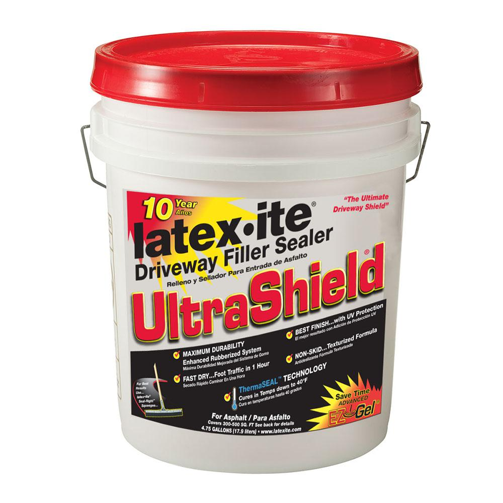 Latex Ite 4 75 Gal Ultra Shield Driveway Filler Sealer 70691 The Home Depot