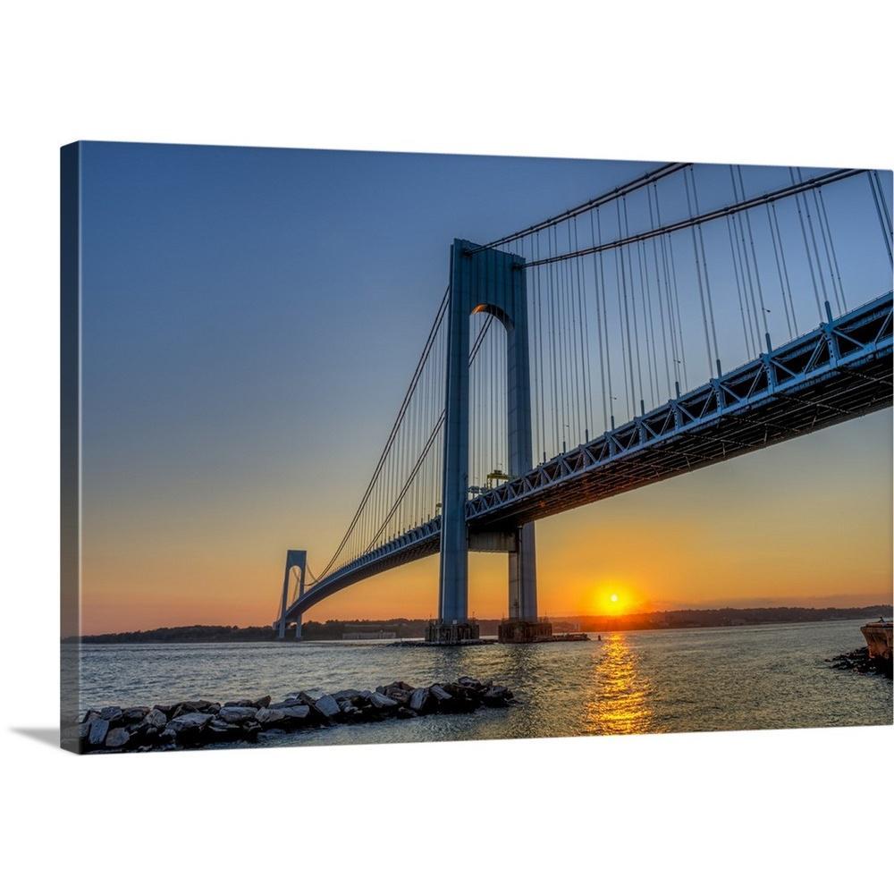 Greatbigcanvas Quot Verrazano Narrows Bridge At Sunset