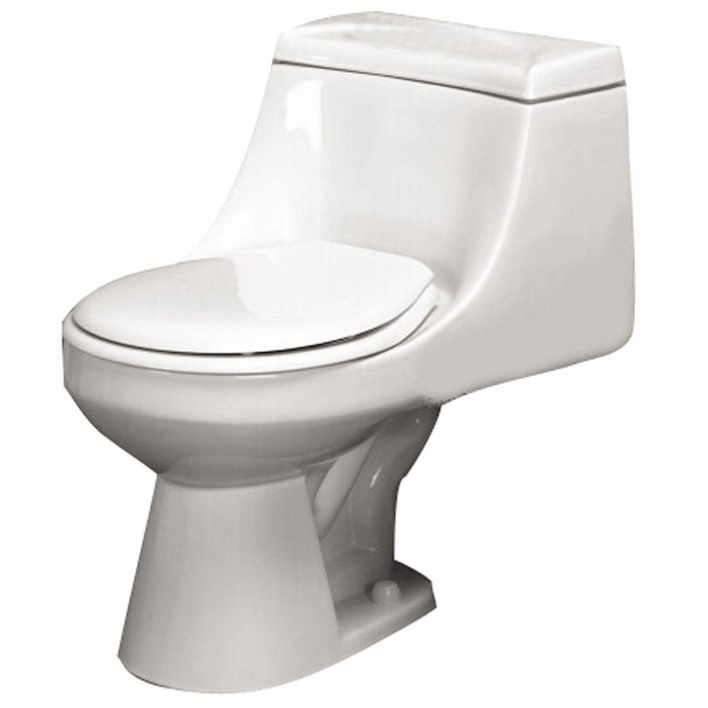 Pegasus Vogue 1-Piece 1.6 GPF Round Front Water Closet Toilet in White-DISCONTINUED